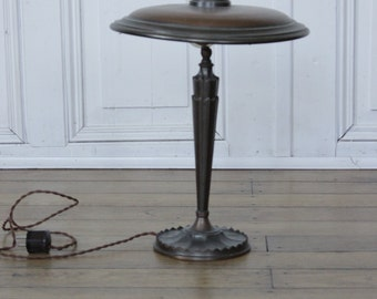 Art Nouveau desk lamp mushroom lamp * brass around 1910 * from Villenauflösung