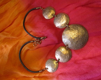 beaten copper necklace