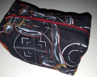 Black Widow/Marvel/Avengers makeup/toiletry / art supply bag