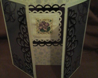 Greeting card. Gatefold