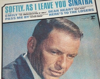 Frank Sinatra vinyl record album, Sinatra Softly As I Leave You vintage vinyl record