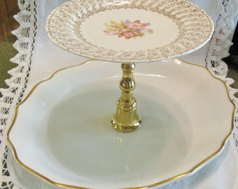 Two Tiered Stand, Tray, Cupcake, Dessert, Appetizer, Tidbit or Jewelry, Syracuse China