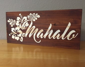 Hawaiian style wall decor, Mahalo (thank you )