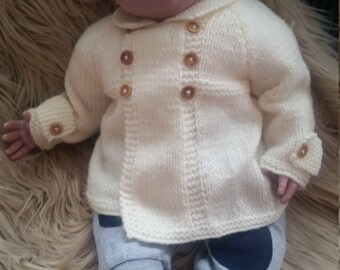Hand knitted jacket 0-6 months