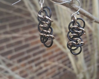 Shenanigans Weave Chainmaille Earrings