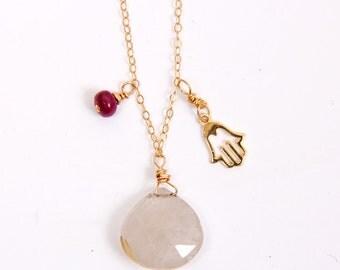 Aquamarine Amulet ~ Bijoux Necklace