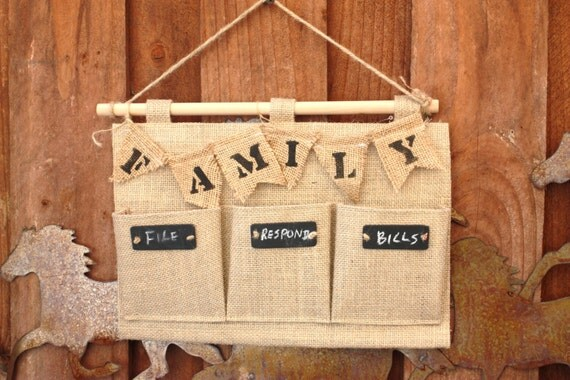 sale burlap hanging organizer burlap mail holder fabric wall organizer letter holder