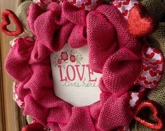 Custom made burlap wreaths