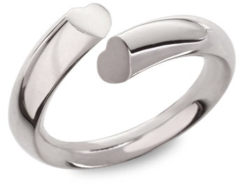 Side heart ring