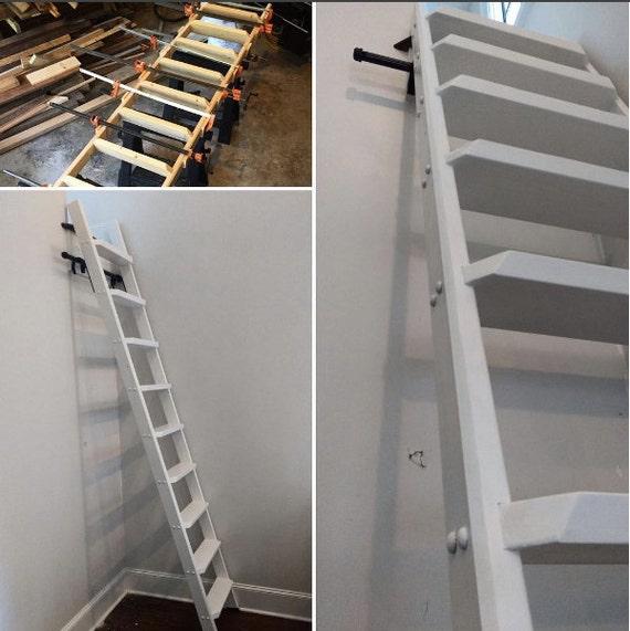 Wood Ladder, Custom Wood Ladder, Library Ladder, Rolling Ladder, Closet  Ladder, Loft Ladder, Kitchen Ladder Built To Order