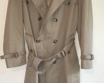 Vintage Christian Dior Monsieur Long Khaki Trench Coat