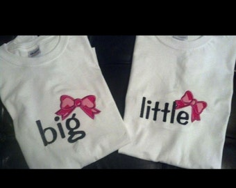 Big and Little shirts, sorority shirts, big sister shirts, gifts for your new little, gifts for your new big, college sorority shirts
