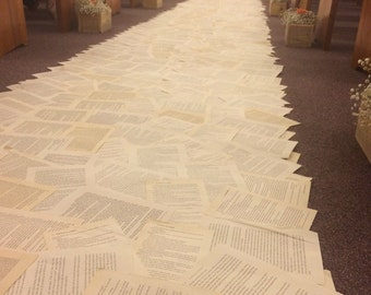 Book Page Aisle Runner