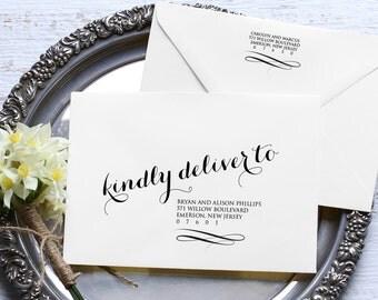 Calligraphy Envelope Template, Wedding Address Printable, Instant Download, Editable Text, DIY Envelope, A7, A1, Digital Download, PDF File
