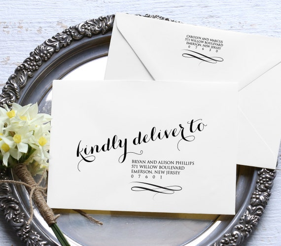 Calligraphy Envelope Template, Wedding Address Printable, Instant ...