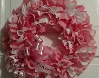 Baby Girl Rag wreath