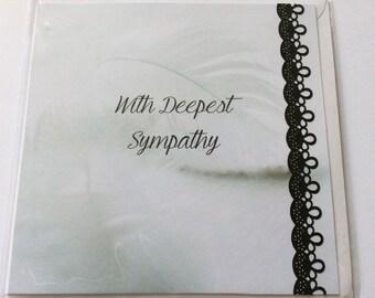 "Handmade card- With Deepest Sympathy- 6x6"""