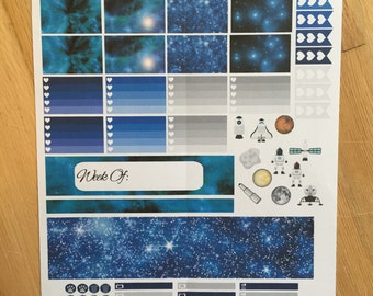 PERSONAL SIZE GALAXY Planner Stickers