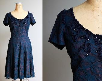 1960s Lace Party Dress