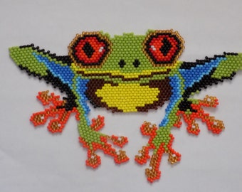 Colorful Beaded Frog