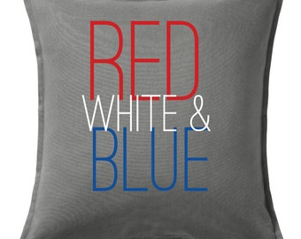 Red White & Blue Pillow Cover