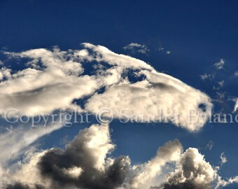 HORSE PHOTOGRAPH Cloud Horse Photo Fine Art Giclee Print Horse Art Horse in the Clouds Spiritual Horse Picture