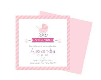 BABY GIRL custom invitation