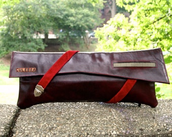 Burgundy and Red Clutch Strap line