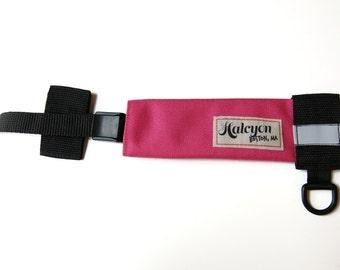 Magenta 1000D Cordura U-Lock Holster - Waterproof and Adjustable for Most Bike Locks