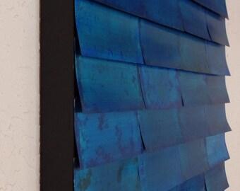 Wall Sculpture - Metal Wall Art - Blue Wall Art - Abstract Art - Modern Art - Original Art - Modern Wall Sculpture - Abstract Wall Sculpture
