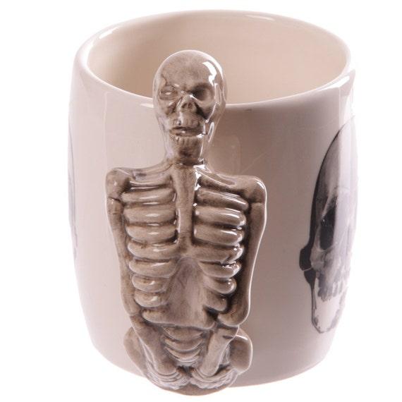 Novelty Skeleton Design Shaped Handle Mug Coffee By