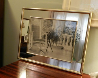 Gold Framed Print with mirrored mat 16 x 20