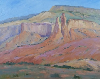 Ghost Ranch Pillars 20wx16h 0il on canvas