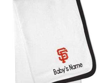 Personalized San Francisco Giants Baby Blanket