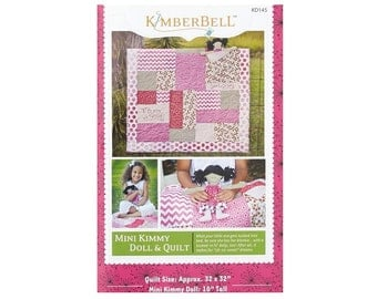 "Riley Blake  by KimberBell     ""Mini Kimmy""  Doll and Quilt pattern"