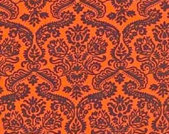 """Michael Miller Cottons      """"Dainty Damask""""    Clementine  BTY"""
