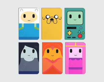 Adventure Time Character Notebooks (Finn, Jake, BMO, Marceline, Flame Princess & Princess Bubblegum)