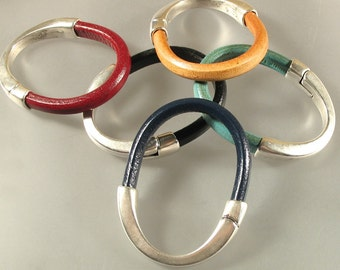 Bangle Leather or Cork Bracelet