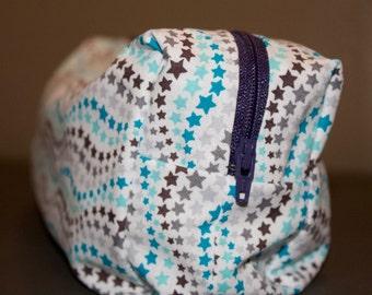 Large Blue Star Pattern Makeup Bag