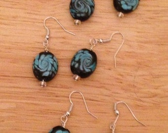 Blue Swirl Earrings