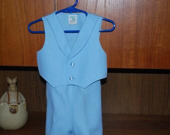 Light Blue Tuxedo Vest & Pants