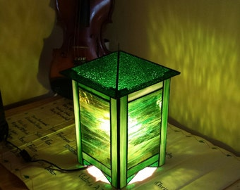 Green Stained Glass Lantern