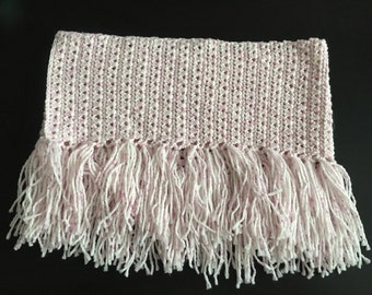 Light Pink Fringed Cowl