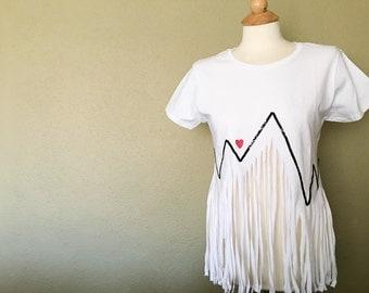 Heartbeat Fringe Tshirt