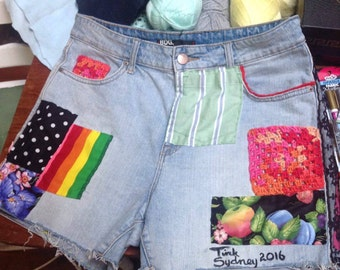 One of a kind mixed media shorts