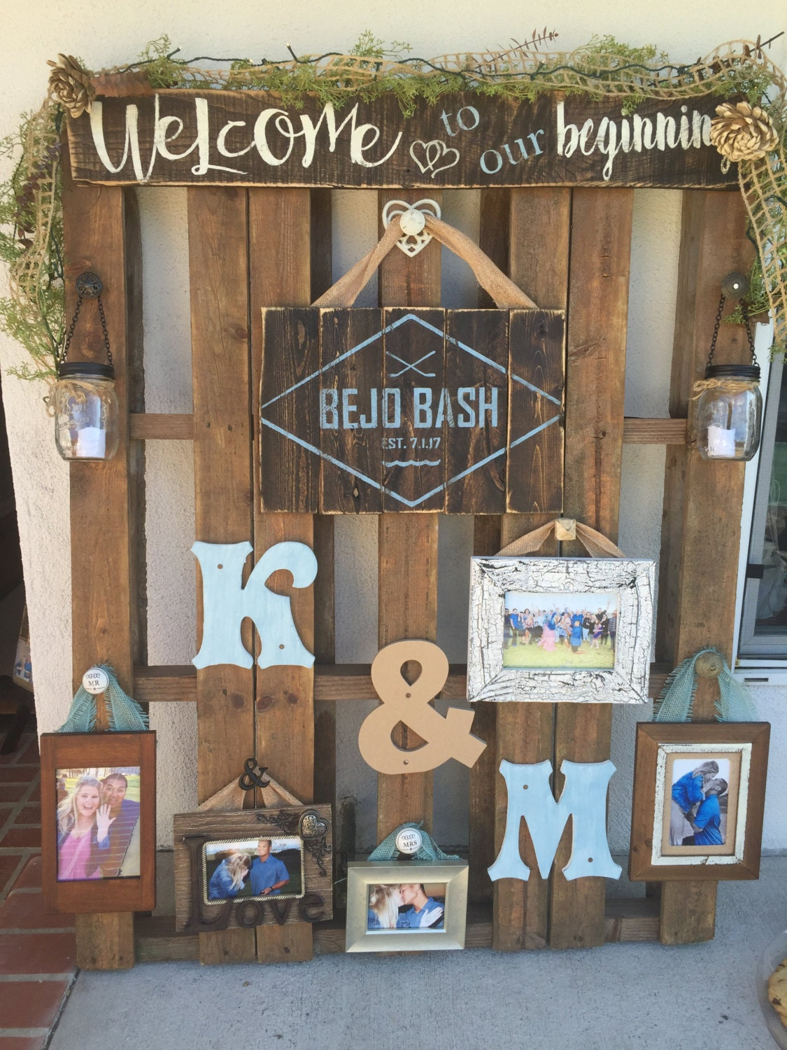 Wood pallet sign wedding display rustic wedding wedding pallet