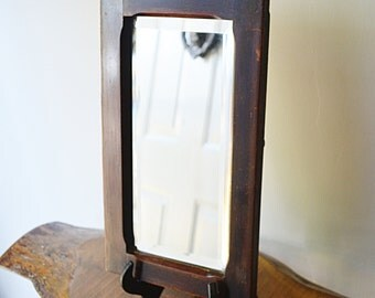 Antique Solid Wood Framed Mirror, 1800's