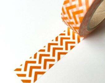 Washi Tape - Orange V - Masking Tape - 1.5cm x 10yd (9.1m)