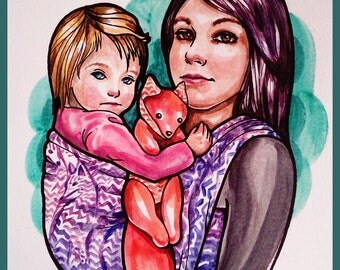 Custom Babywearing Portrait