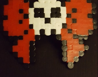 Goth skull pixel bow